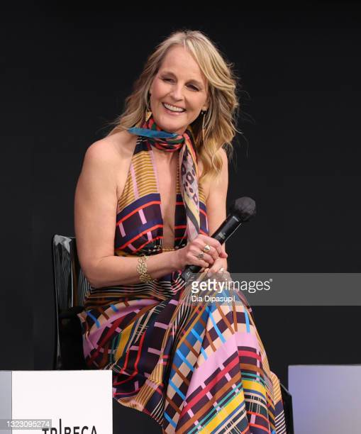 """Helen Hunt speaks onstage at 2021 Tribeca Festival Premiere & Q&A of """"Blindspotting"""" at Pier 76 on June 11, 2021 in New York City."""