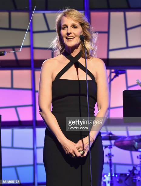 Helen Hunt speaks onstage during the Saint John's Health Center 75th Anniversary Gala Celebration on October 21 2017 in Culver City California
