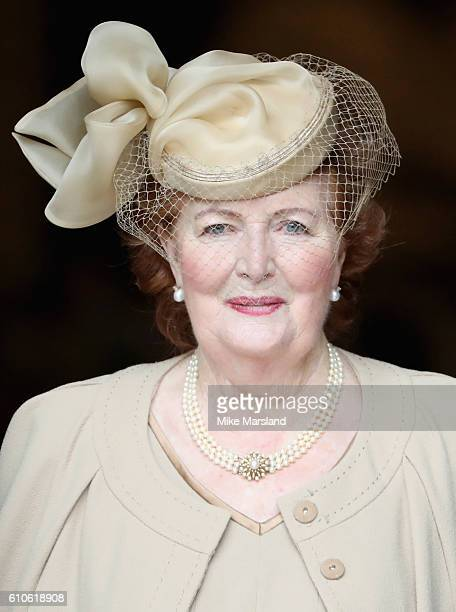 Helen Joyce Wogan attends a memorial service for the late Sir Terry Wogan at Westminster Abbey on September 27 2016 in London England