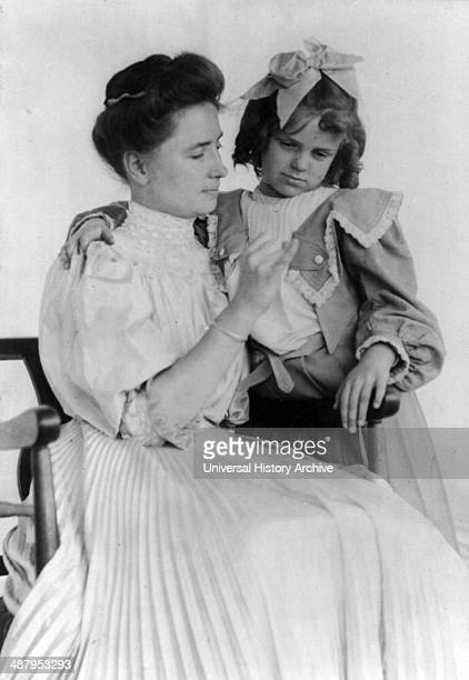 Helen Keller 18801968 teaching a child sign language 1907 Helen Adams Keller American author political activist and lecturer She was the first deaf...