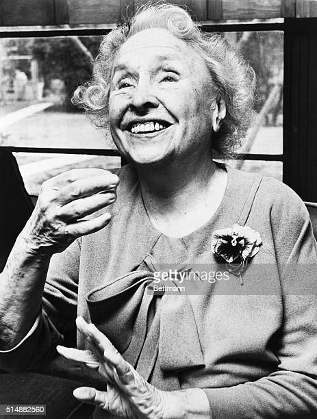 Helen Keller blind and deaf author and lecturer Head and shoulders photograph 1950s