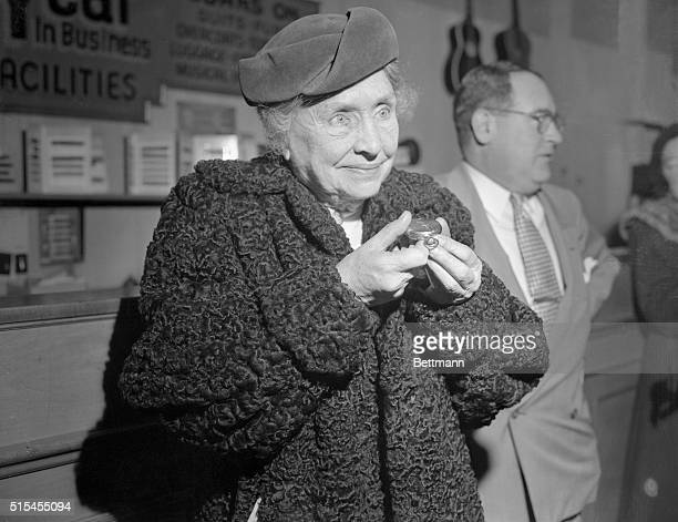 Helen Keller reclaimed the watch she lost in a taxicab January 17 1952 The watch was given to her by John Hitz the secretary of Alexander Graham Bell...