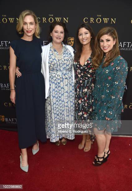 Helen Kennedy Turner Cristy Coors Beasley Taylor Treadwell and Denah Angel attend the BAFTALA Summer Garden Party at The British Residence on August...