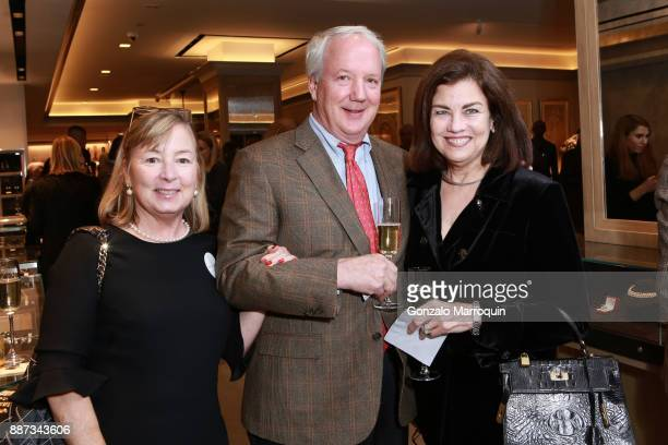 Helen Kippax John Kippax and Tena Kavanagh during the Macklowe Gallery Hosts 2018 Winter Antiques Show Kickoff Event at 445 Park Avenue on December 6...