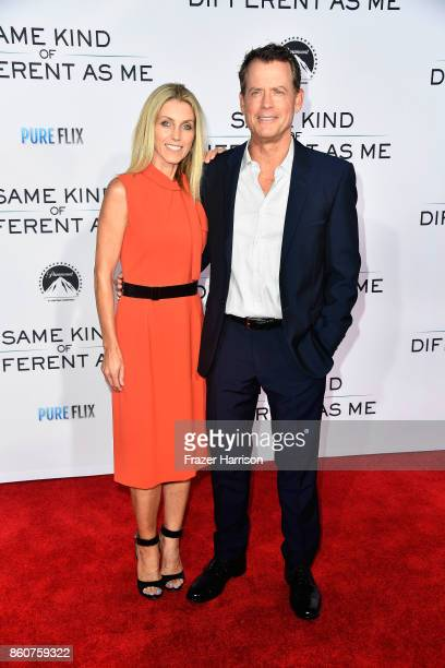 """Helen Labdon and Greg Kinnear arrive at the Premiere Of Paramount Pictures And Pure Flix Entertainment's """"Same Kind Of Different As Me"""" at Westwood..."""