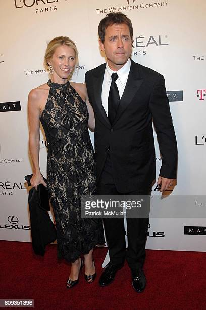 Helen Labdon and Greg Kinnear attend Weinstein Co. Golden Globes After Party at Trader Vics at the Beverly Hills Hilton on January 15, 2007 in...