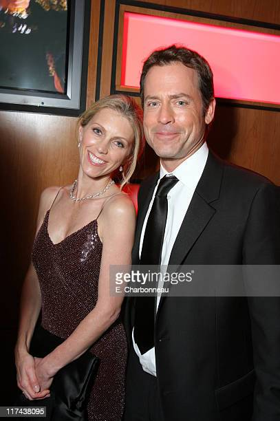 Helen Labdon and Greg Kinnear during 2007 Vanity Fair Oscar Party Hosted by Graydon Carter - Inside at Mortons in West Hollywood, California, United...