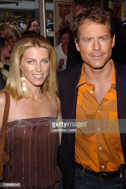 Helen Labdon and Greg Kinnear during Bad News Bears New York City Premiere Arrivals at Ziegfeld Theatre in New York City New York United States