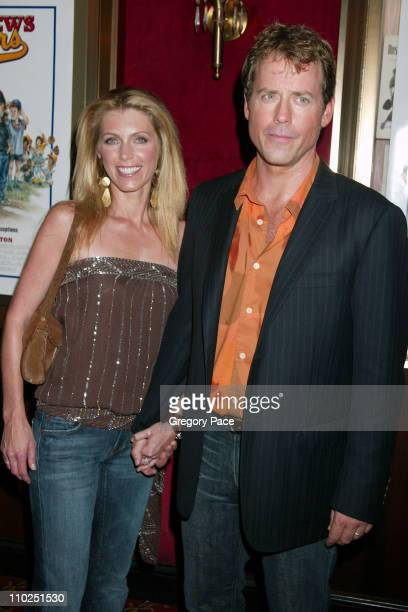 Helen Labdon and Greg Kinnear during Bad News Bears New York City Premiere Inside Arrivals at Ziegfeld Theater in New York City New York United States