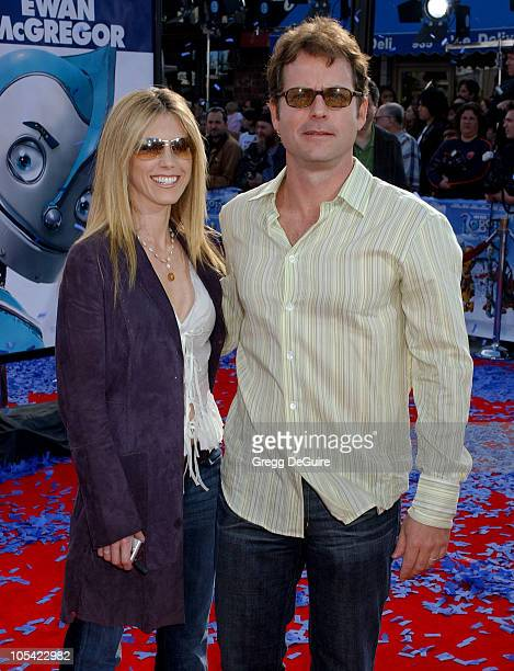 Helen Labdon and Greg Kinnear during Robots Los Angeles Premiere Arrivals at Mann Village Theatre in Westwood California United States
