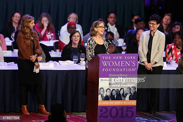 Helen LaKelly Hunt speaks onstage during The New York Women's Foundation Celebrating Women Breakfast at Marriott Marquis Hotel on May 14 2015 in New...