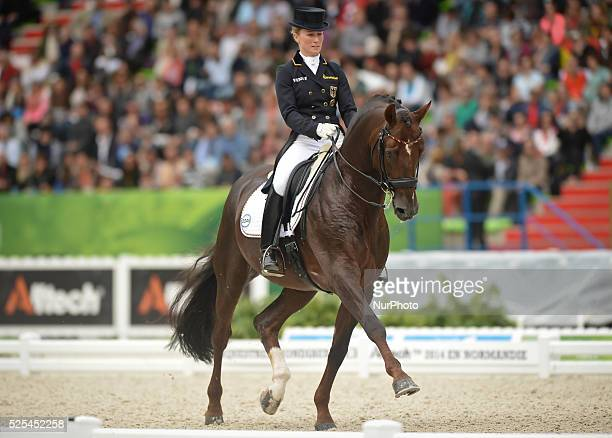 Helen Langehanenberg from Germany riding Damon Hill NRW during the Dressage Grand Prix Special Individual Competition at the Alltech FEI World...