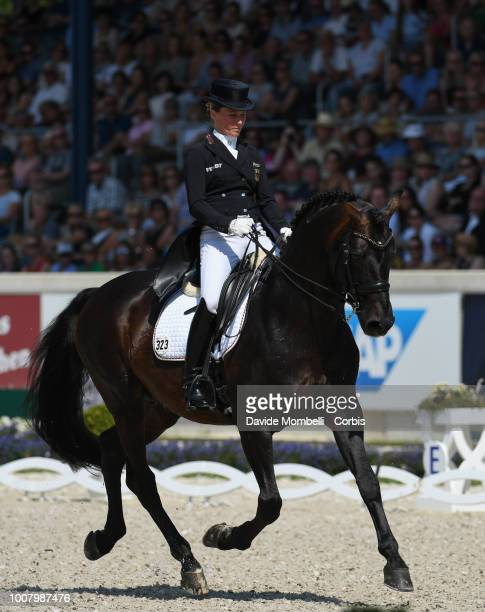 Helen Langehanenberg of Germany riding Damsey FRH during the dressage individual Final Grand Prix of Aachen Freestyle to music CDIO Deutsche Bank...