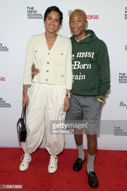 Helen Lasichanh and Pharrell Williams attend the 71st Annual Parsons Benefit honoring Pharrell Everlane StitchFix The RealReal on May 20 2019 in New...