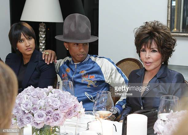 Helen Lasichanh and recording artists Pharrell Williams and Carole Bayer Sager attend VIOLET GREY Honors Elizabeth Taylor At She's So Violet Salon...