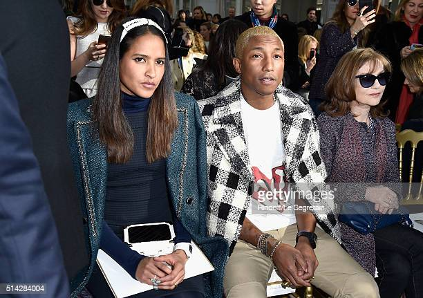 Helen Lasichanh Pharrell Williams and Isabelle Huppert attend the Chanel show as part of the Paris Fashion Week Womenswear Fall/Winter 2016/2017 on...