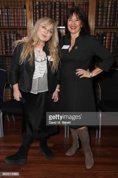 Helen Lederer and Daisy Goodwin attend The Writers' Guild Awards 2018 held at Royal College Of Physicians on January 15 2018 in London England