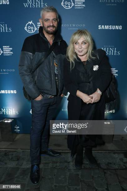 Helen Lederer and guest attend a Christmas Party at Rosewood London to celebrate the launch of Rosewood Mini Wishes in aid of Great Ormond Street...
