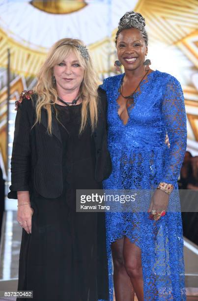 Helen Lederer and Sandi Bogle are evicted from the Celebrity Big Brother House at Elstree Studios on August 22 2017 in Borehamwood England