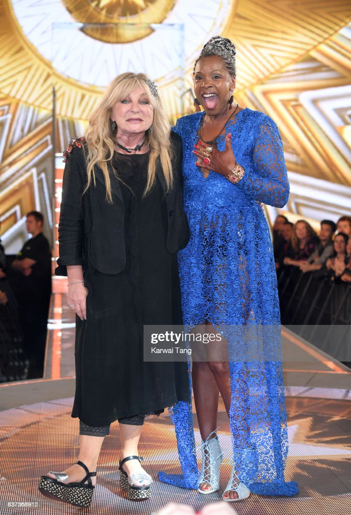 Helen Lederer and Sandi Bogle are evicted from the Celebrity Big Brother House at Elstree Studios on August 22, 2017 in Borehamwood, England.