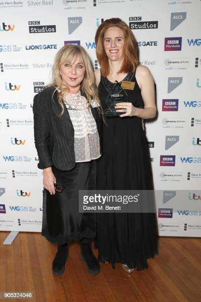 Helen Lederer and Sarah Kendall attend The Writers' Guild Awards 2018 held at Royal College Of Physicians on January 15 2018 in London England