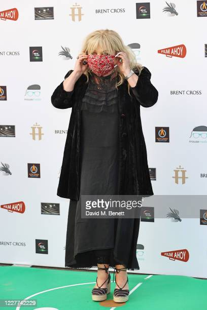 "Helen Lederer attends the Drive-In World Premiere of ""Break"" at Brent Cross Shopping Centre on July 22, 2020 in London, England."