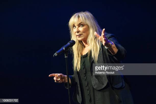 Helen Lederer performs on stage 'I Might As Well Say It' during Underbelly Press Launch, as part of the annual Edinburgh Fringe Festival, at...
