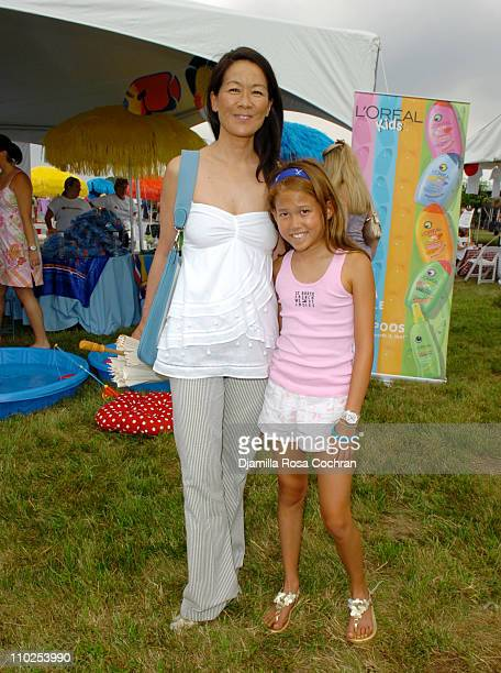 Helen Lee Schifter and daughter during Super Saturday 8 - The World Famous Designer Garage Sale Benefiting The Ovarian Cancer Research Fund Hosted by...