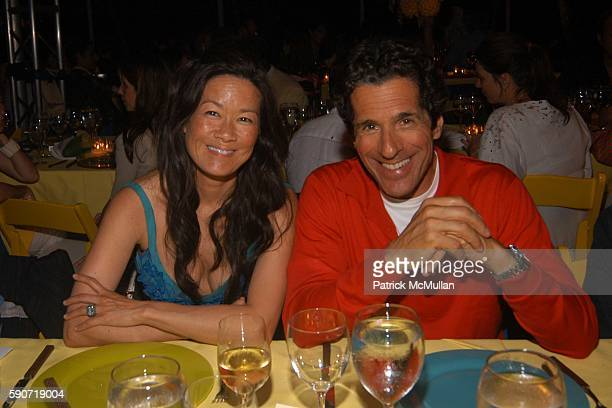 Helen Lee Schifter and Peter Morton attend The Watermill Summer Benefit BRAZIL at The Watermill Center on July 30 2005 in Water Mill NY