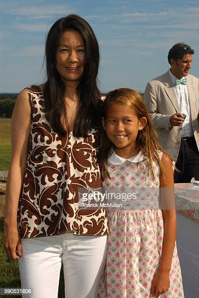 Helen Lee Schifter and Storey Schifter attend A Mother and Daughter Afternoon Tea to Celebrate the Introduction of Barbie doll by Lilly Pulitzer at...