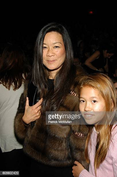 Helen Lee Schifter and Storey Schifter attend Anna Sui Fall 06 at The Tents Bryant Park on February 8 2006 in New York