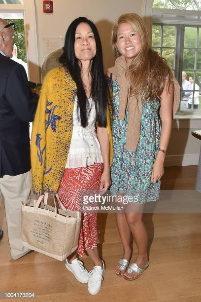 Helen Lee Schifter and Storey Schifter attend the East Hampton Summer Screening Of The Wife at Guild Hall on July 22 2018 in East Hampton New York