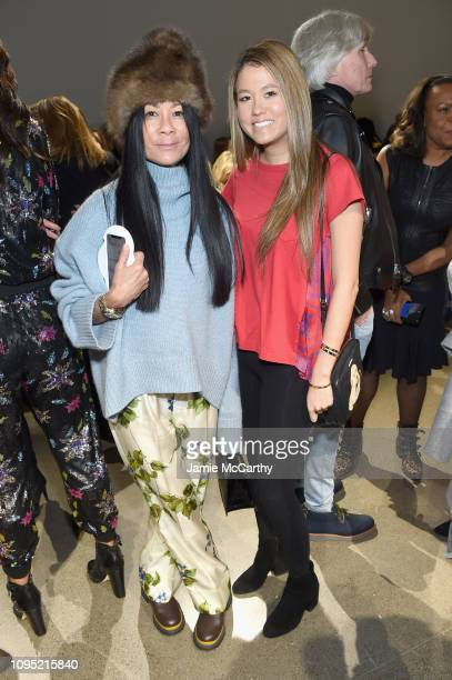Helen Lee Schifter and Storey Schifter attend the Nicole Miller front row during New York Fashion Week The Shows at Gallery II at Spring Studios on...