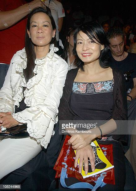 Helen Lee Schifter and Vivienne Tam during Mercedes-Benz Fashion Week Spring 2004 - Anna Sui - Front Row at Bryant Park in New York City, New York,...