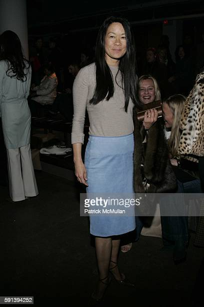 Helen Lee Schifter attends Calvin Klein Fall 2005 Fashion Show at Milk Studios on February 10 2005 in New York City