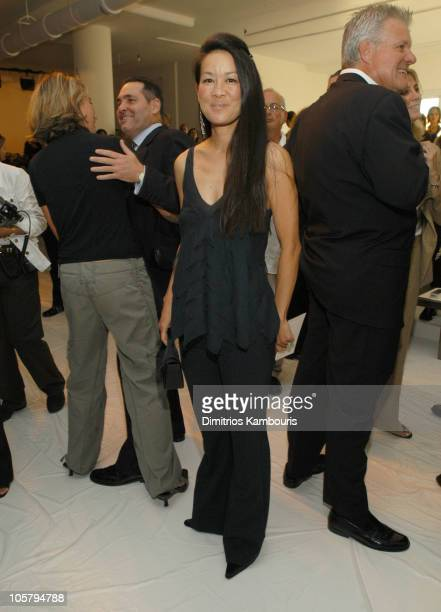 Helen Lee Schifter during Mercedes-Benz Fashion Week Spring 2004 - Calvin Klein - Front Row at 450 W 15th Street in New York City, New York, United...