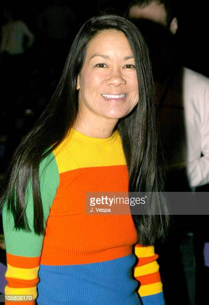 Helen Lee Schifter during Olympus Fashion Week Fall 2004 - Anna Sui - Front Row and Backstage at The Tent at Bryant Park in New York City, New York,...