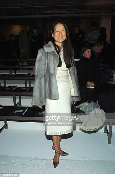 Helen Lee Schifter during Olympus Fashion Week Fall 2004 - Calvin Klein - Front Row at The Atelier at Bryant Park in New York City, New York, United...