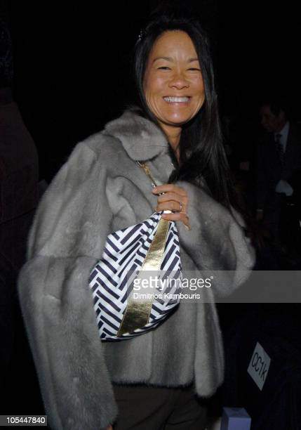 Helen Lee Schifter during Olympus Fashion Week Fall 2005 - Vera Wang - Front Row at Bryant Park in New York City, New York, United States.