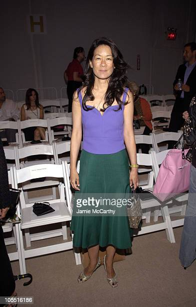 Helen Lee Schifter during Olympus Fashion Week Spring 2006 - J. Mendel - Front Row at Bryant Park in New York City, New York, United States.