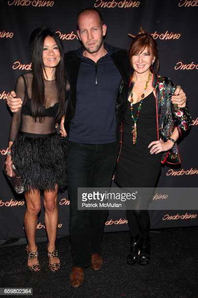 Helen Lee Schifter John Mcdonald and Nicole Miller attend INDOCHINE'S 25th Anniversary Celebration at Indochine on November 20 2009 in New York
