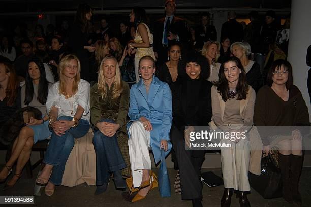 Helen Lee Schifter Reneee Rockefeller Gigi Mortimer Muffie Potter Aston Grace Hightower Jennifer Creel and Pat Wexler attend Calvin Klein Fall 2005...
