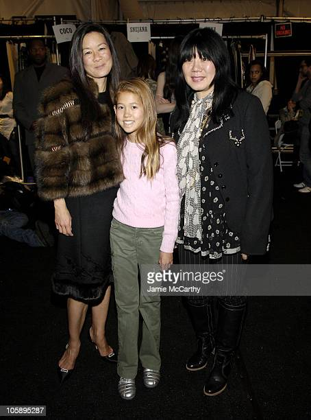 Helen Lee Schifter Storey Schifter and Anna Sui during Olympus Fashion Week Fall 2006 Anna Sui Backstage at Bryant in New York City New York United...