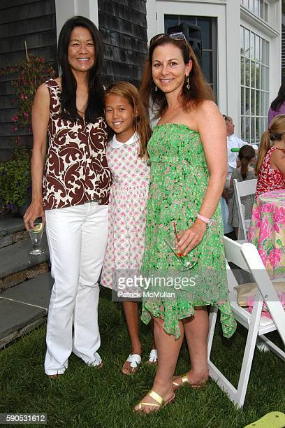 Helen Lee Schifter Storey Schifter and Bettina Zilkha attend A Mother and Daughter Afternoon Tea to Celebrate the Introduction of Barbie doll by...