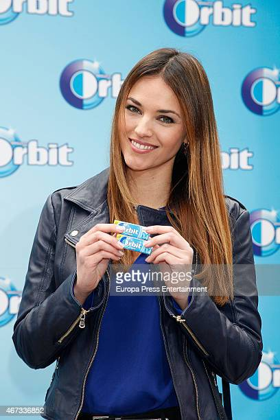 Helen Lindes presents the new chewing gum by Orbit on World Oral Health Day on March 20 2015 in Madrid Spain