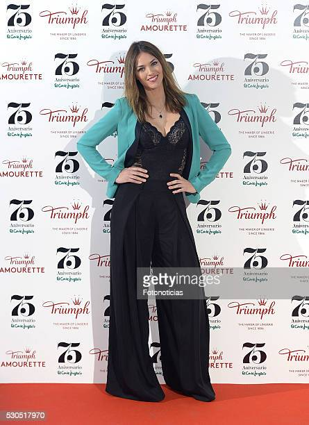 Helen Lindes presents the Triumph new collection at El Corte Ingles Castellana store on May 11 2016 in Madrid Spain