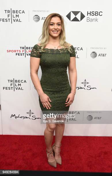 """Helen Maroulis attends """"Bethany Hamilton: Unstoppable"""" during 2018 Tribeca Film Festival at SVA Theatre on April 20, 2018 in New York City."""