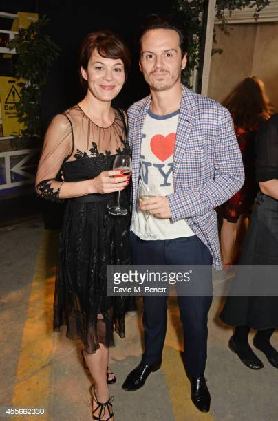 Helen McCrory and Andrew Scott attend the Bright Young Things Gala 2014 a Young Patrons of the National Theatre gala event in support of emerging...