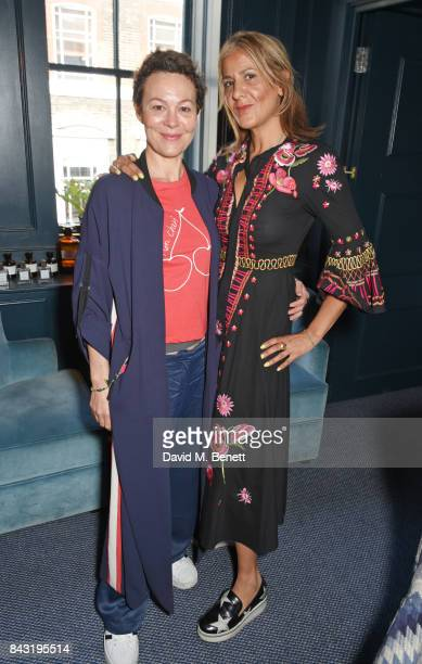 Helen McCrory and Azzi Glasser attend a private breakfast hosted by Azzi Glasser to launch of new fragrance 'After Hours' created by The Perfumer's...