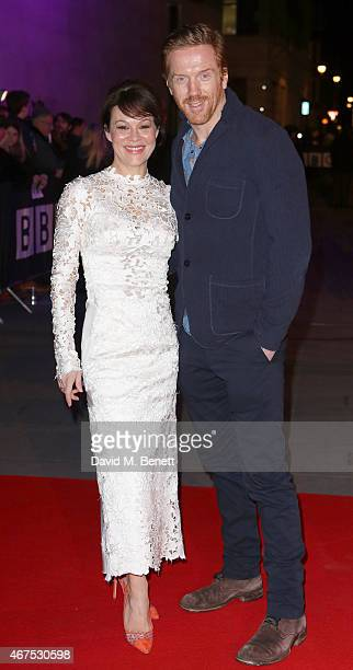Helen McCrory and Damian Lewis arrive at the BBC Films' 25th Anniversary Reception at BBC Broadcasting House on March 25 2015 in London England